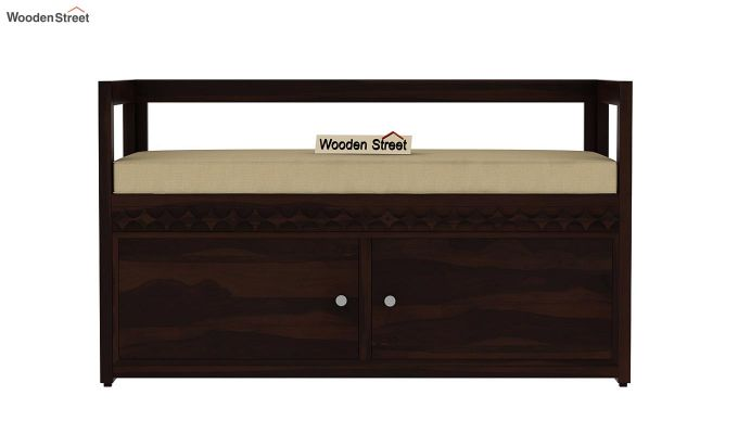 Berwick Designer Shoe Rack (Walnut Finish)-3