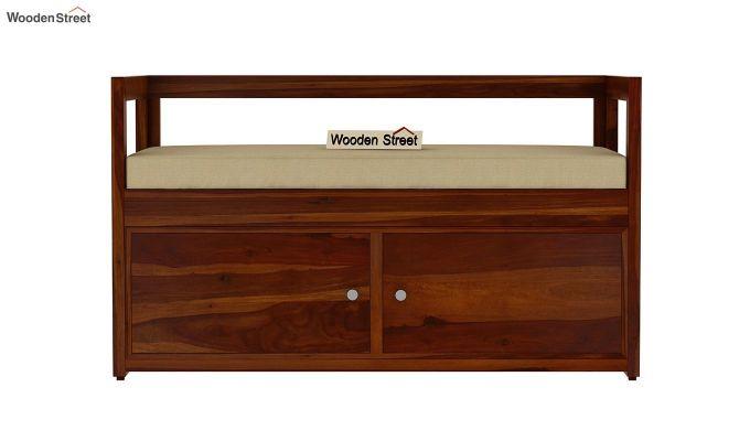 Berwick Shoe Cabinet (Honey Finish)-3