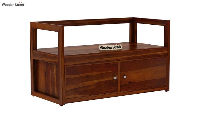 Berwick Shoe Cabinet (Honey Finish)-4