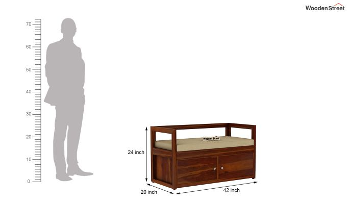 Berwick Shoe Cabinet (Honey Finish)-6