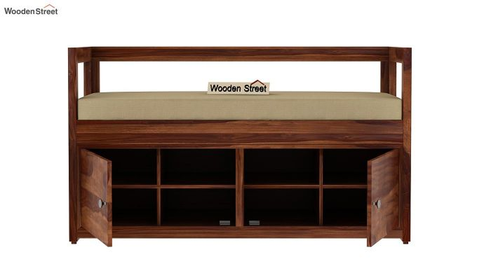 Berwick Shoe Cabinet (Teak Finish)-5