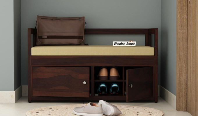 Berwick Shoe Cabinet (Walnut Finish)-1