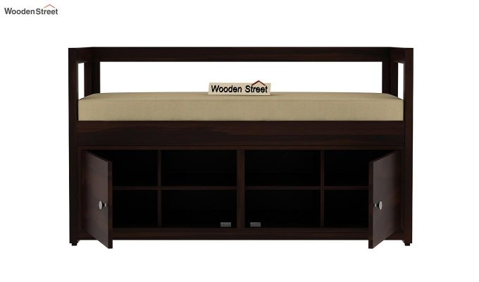 Berwick Shoe Cabinet (Walnut Finish)-5