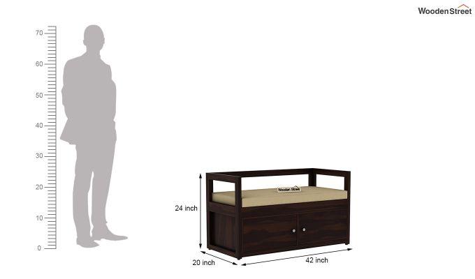 Berwick Shoe Cabinet (Walnut Finish)-6
