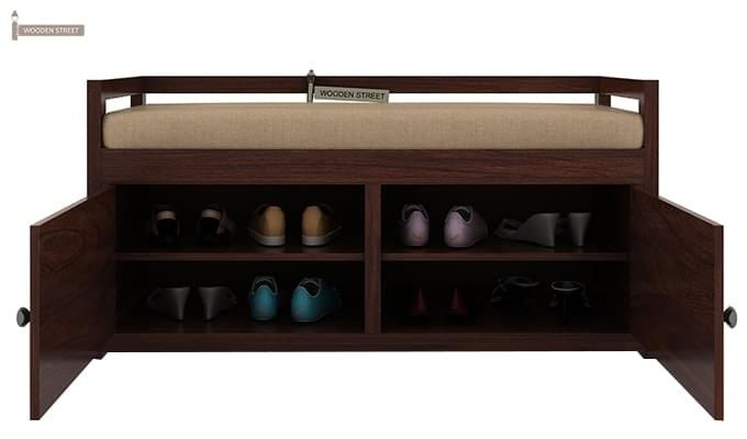 Berwick Shoe Cabinet (Walnut Finish)-2