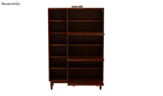 Casa Shoe Rack with Shelves (Honey Finish)-6