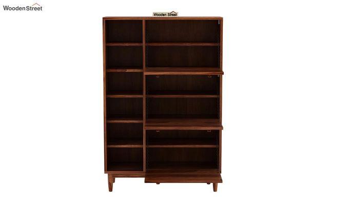 Casa Shoe Rack with Shelves (Teak Finish)-6