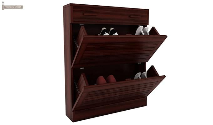 Catlin Shoe Rack (Mahogany Finish)-3