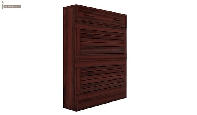 Catlin Shoe Rack (Mahogany Finish)-4