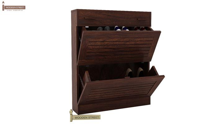 Catlin Shoe Rack (Walnut Finish)-1