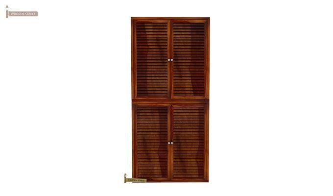 Deny Shoe Cabinet Set Of-2 (Honey Finish)-1