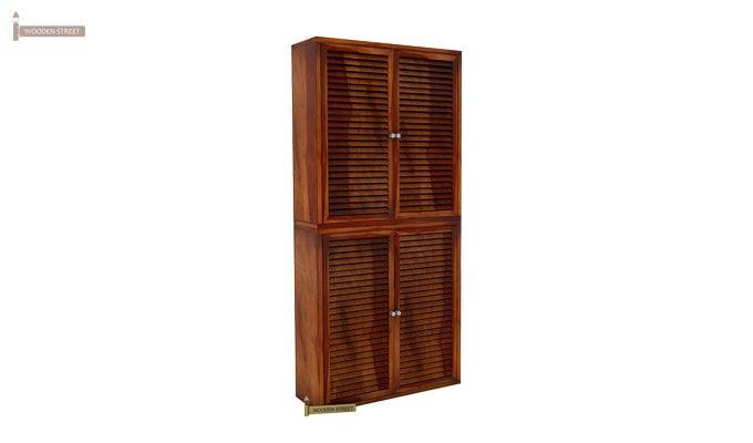 Deny Shoe Cabinet Set Of-2 (Honey Finish)-2