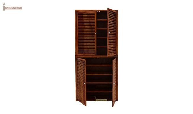 Deny Shoe Cabinet Set Of-2 (Honey Finish)-3
