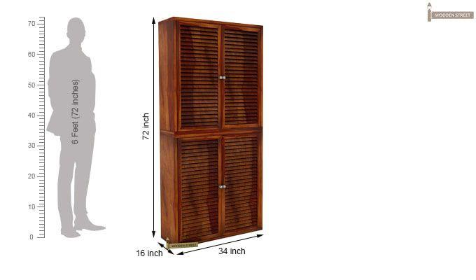 Deny Shoe Cabinet Set Of-2 (Honey Finish)-4