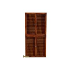 Deny Shoe Cabinet Set Of-2 (Honey Finish)