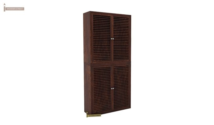 Deny Shoe Cabinet Set Of-2 (Walnut Finish)-2