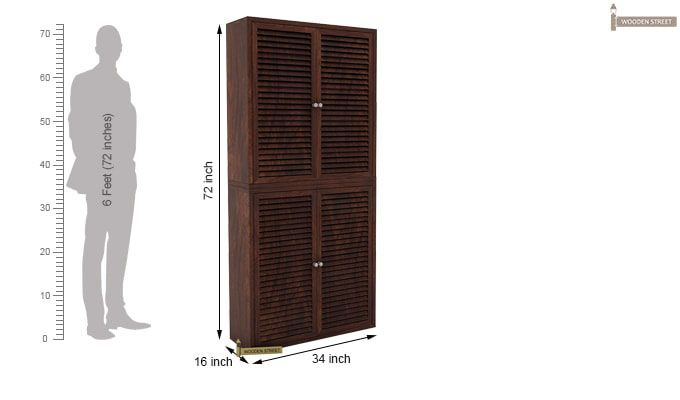 Deny Shoe Cabinet Set Of-2 (Walnut Finish)-4