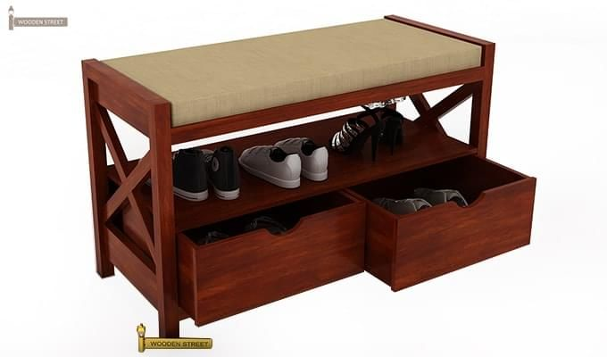 Dionne Shoe Cabinet (Honey Finish)-5