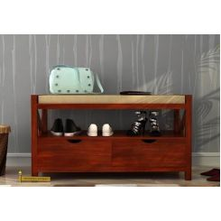 Dionne Shoe Cabinet (Honey Finish)