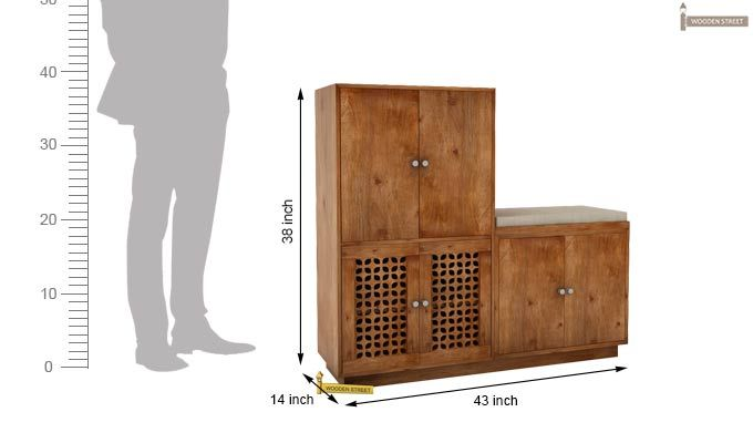 Epson Shoe Footwear Storage (Teak Finish)-4