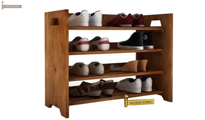 Evian Shoe Rack (Teak Finish)-1