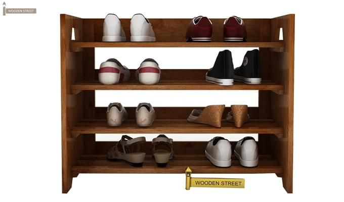 Evian Shoe Rack (Teak Finish)-2