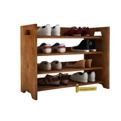 Evian Shoe Rack (Teak Finish)