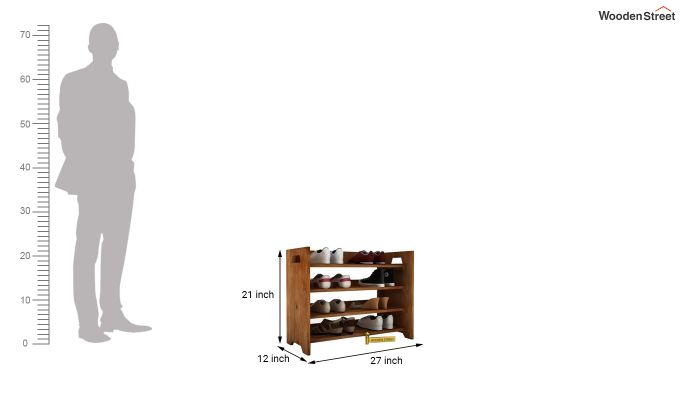 Evian Shoe Rack (Teak Finish)-3