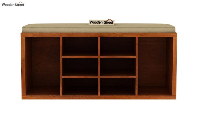 Evora Shoe Cabinet (Honey Finish)-3