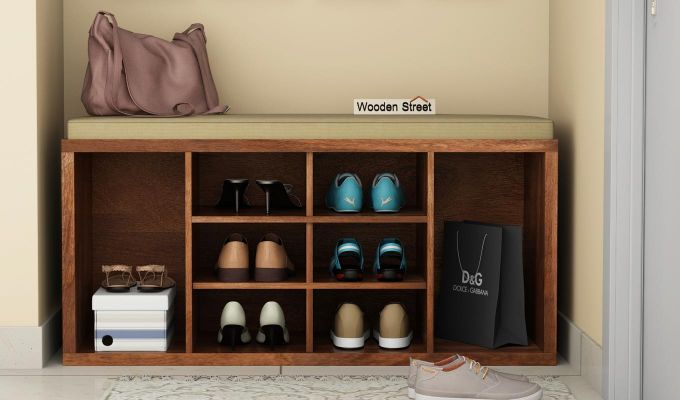 Evora Shoe Cabinet (Teak Finish)-1