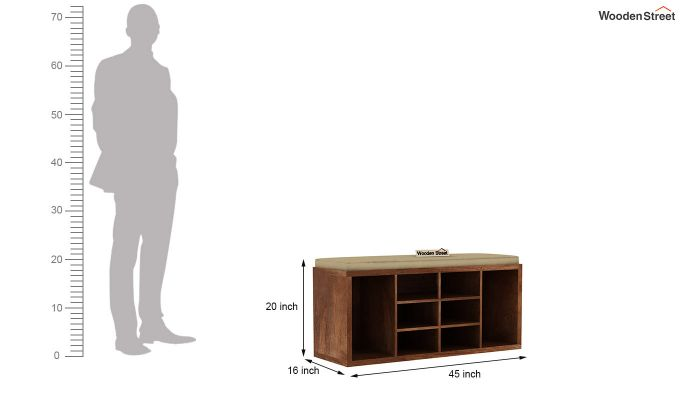 Evora Shoe Cabinet (Teak Finish)-4