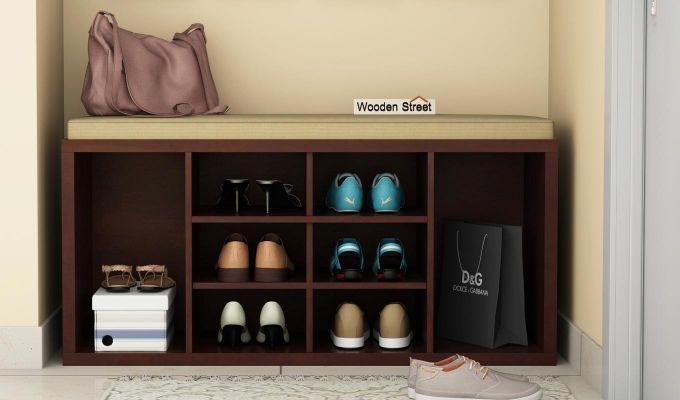 Evora Shoe Cabinet (Walnut Finish)-1