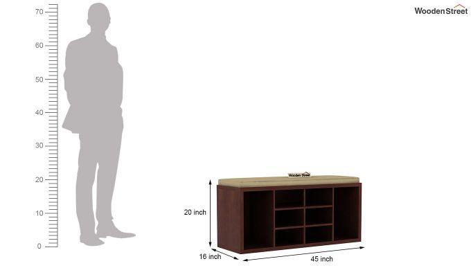 Evora Shoe Cabinet (Walnut Finish)-4
