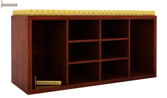 Evora Shoe Cabinet (Honey Finish)-2