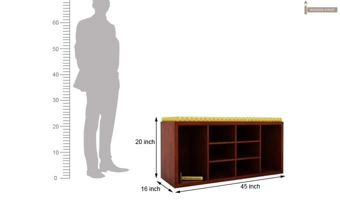 Evora Shoe Cabinet (Honey Finish)-4
