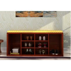 Evora Shoe Cabinet (Honey Finish)