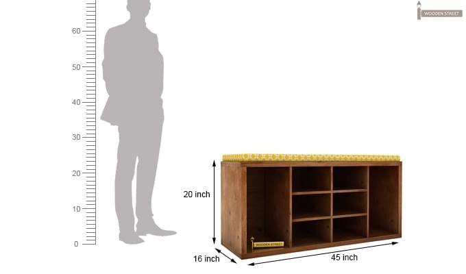 Evora Shoe Cabinet (Teak Finish)-4