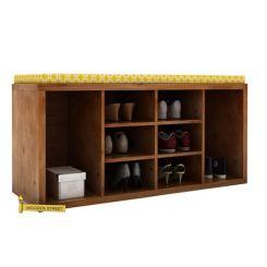 Evora Shoe Cabinet (Teak Finish)