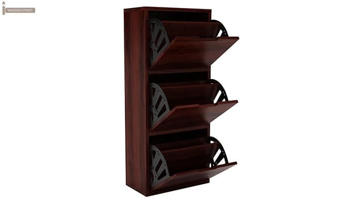Ferron Shoe Rack (Mahogany Finish)-4