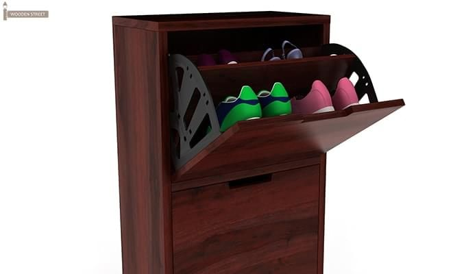 Ferron Shoe Rack (Mahogany Finish)-5