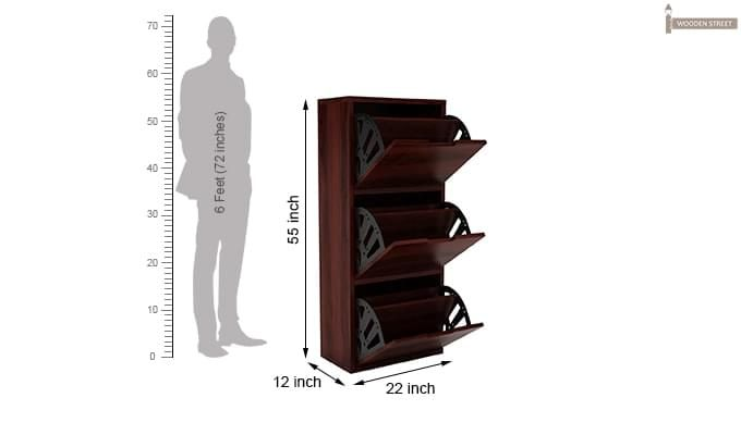 Ferron Shoe Rack (Mahogany Finish)-6