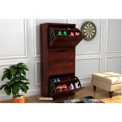 Ferron Shoe Rack (Mahogany Finish)