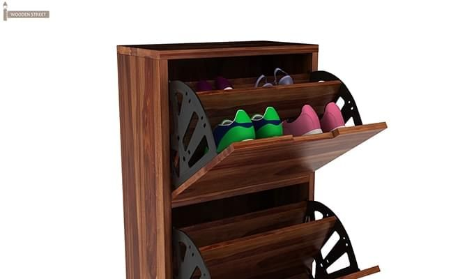 Ferron Shoe Rack (Teak Finish)-5