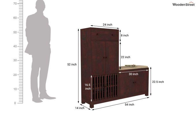 Floreta Footwear Storage (Mahogany Finish)-5