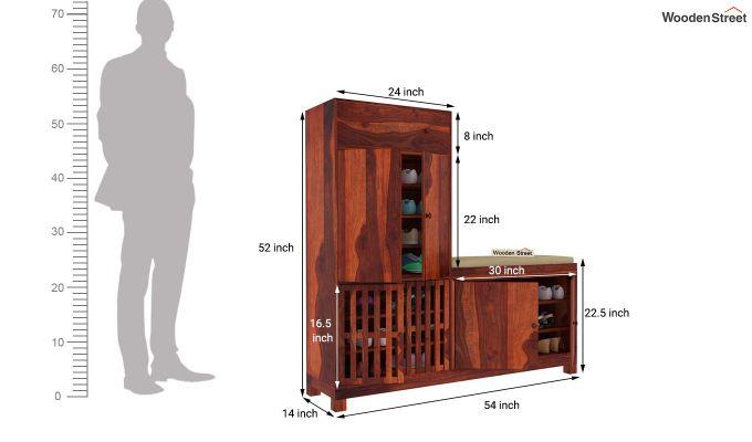 Floreta Footwear Storage (Honey Finish)-5