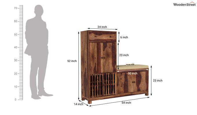 Floreta Footwear Storage (Teak Finish)-6