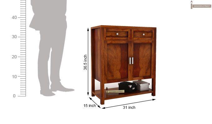 Helena Shoe Storage Unit (Honey Finish)-4