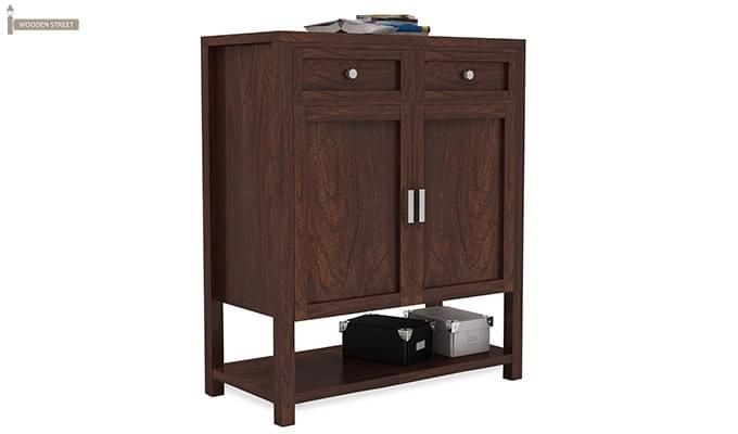 Helena Shoe Storage Unit (Walnut Finish)-2