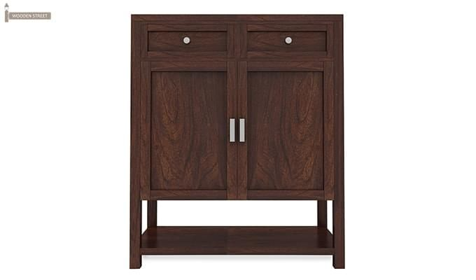 Helena Shoe Storage Unit (Walnut Finish)-4