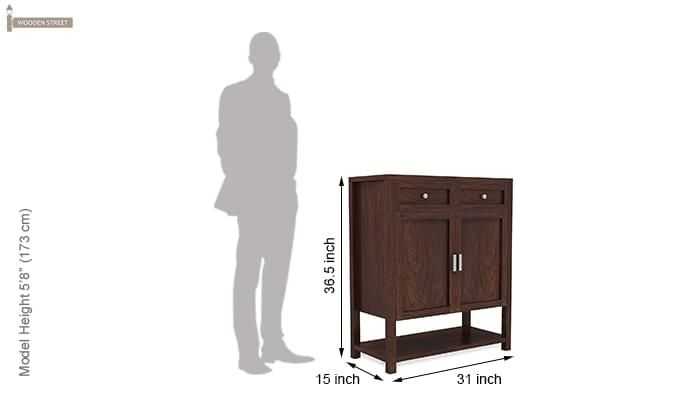 Helena Shoe Storage Unit (Walnut Finish)-5